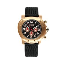 Grille Men's Watch with Rose Gold Case and Black Dial