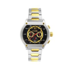 Dash Men's Watch with Silver / Gold Band and Black Dial
