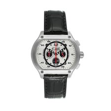 Dash Men's Watch with Silver Case and White Dial