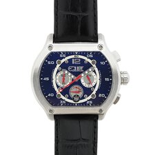Dash Men's Watch with Black Band and Blue Dial