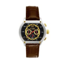 Dash Men's Watch with Brown Band