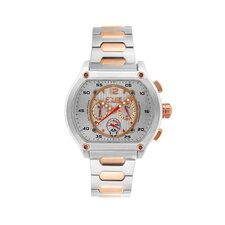 Dash Men's Watch with Silver / Rose Gold Band and White Dial