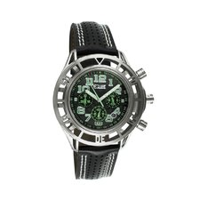Chassis Men's Watch with Silver Case and Black / Green Dial