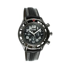 Chassis Men's Watch with Black Case and Black / White Dial
