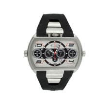 Dash XXL Men's Watch with Silver Case and Grey / Black Dial