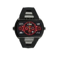 Dash XXL Men's Watch with Black Case and Black / Red Dial