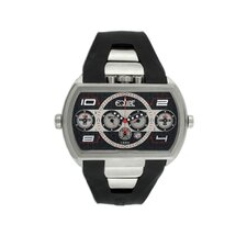 Dash XXL Men's Watch with Silver Case and Black / White Dial