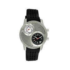 Octane Men's Watch with Silver Case and Black / White Dial