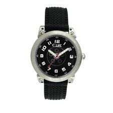 Hub Men's Watch with Silver Case and Black Dial