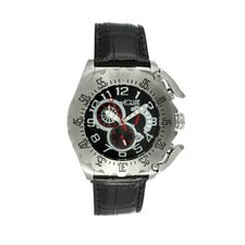 Paddle Men's Watch with Silver Case and Black Dial