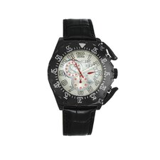 Paddle Men's Watch with Black Case and White Dial