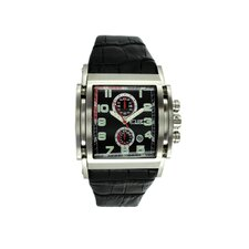 Spring Men's Watch with Silver Case and Black Dial