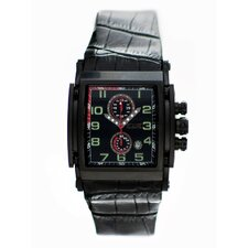 Spring Men's Watch with Black Case and Dial