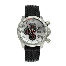 Hemi Men's Watch with Black Rubber Band and White Dial
