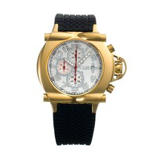 Rollbar Men's Watch with Gold Case and White Dial
