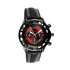 Mustang Boss 302 Mens Watch with Satin Black Case and Red Dial
