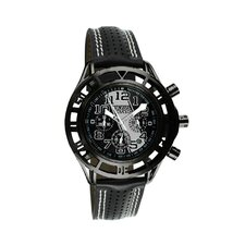 Mustang Boss 302 Mens Watch with Satin Black Case and Black Dial