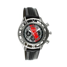 Mustang Boss 302 Mens Watch with Satin Silver Case and Silver Dial
