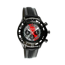 Mustang Boss 302 Mens Watch with Satin Black Case and Silver Dial
