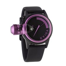 Bulletor Men's Watch in Black with Lavender Bezel