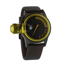 Bulletor Men's Watch in Black with Yellow Bezel