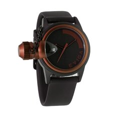 Bulletor Men's Watch in Black with Brown Bezel