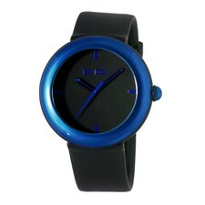 Cirkle Men's Watch in Black with Blue Bezel