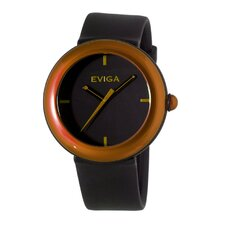 Cirkle Men's Watch in Black with Brown Bezel