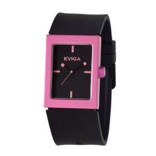 Ruta Men's Watch in Black with Light Pink Bezel