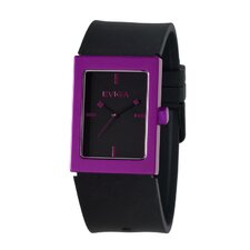 Ruta Men's Watch in Black with Purple Bezel
