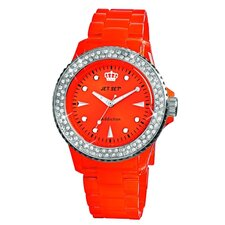 Addiction Ladies Watch in Polished Red with Silver Bezel