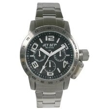 San Remo Men's Watch in Silver with Black Chronograph Dial