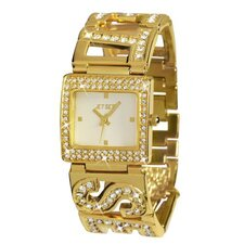 Beverly Hills Ladies Watch with Gold Logo Band