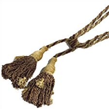 Sage Brick Gold Chenille Fabric Tassel Set (Set of 2)