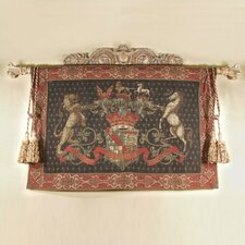 Olde World Crest Black Tapestry