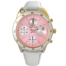 <strong>Tsumori Chisato</strong> Big Cat Women's Leather Watch
