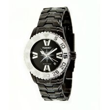 <strong>Vuarnet</strong> H2O Lady Ladies Watch with Black Steel Band and White Bezel