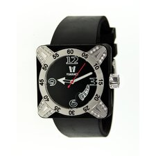 Deepest Lady Ladies Watch in Black with Silver Bezel
