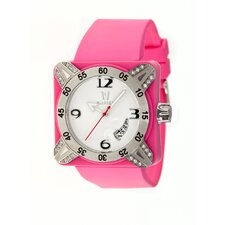 Deepest Lady Ladies Watch in Hot Pink with Silver Bezel