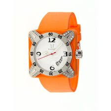 Deepest Lady Ladies Watch in Orange with Silver Bezel
