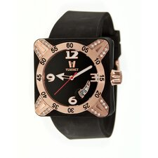 <strong>Vuarnet</strong> Deepest Lady Ladies Watch in Black with Rose Gold Bezel