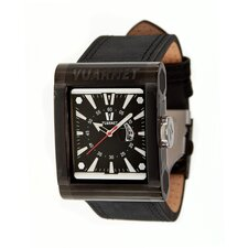 GT Men's Watch with Black Band and Black Case