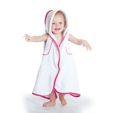 aacua 4 in 1 Bath Towel with Pink Trim in White