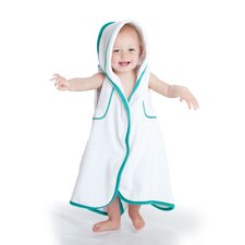aacua 4 in 1 Bath Towel in Teal Trim in White