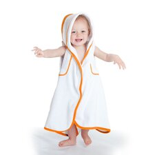 aacua 4 in 1 Bath Towel with Orange Trim in White