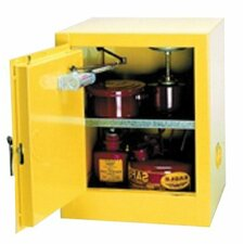 "22.25"" H x 17.5"" W x 18"" D Flammable Liquid 4 Gallon Safety Storage Cabinet"