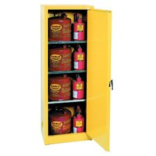 "65"" H x 23"" W x 18"" D Flammable Liquid 24 Gallon Safety Storage Cabinet"