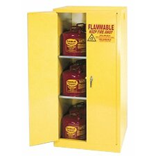 "65"" H x 43"" W x 34"" D Flammable Liquid 60 Gallon Safety Storage Cabinet"
