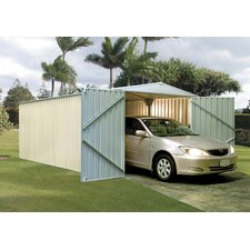 "HighLander 9.8"" W x 19.4"" D Steel Storage Shed"