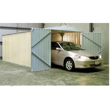 "HighLander 9.8"" W x 9.4"" D Steel Storage Shed"